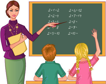 teacher_with_student_vector_531694