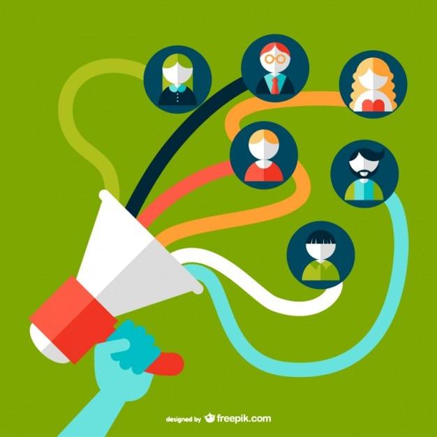 social-media-speaking-tube-concept-vector_23-2147494404